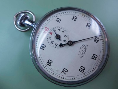 Lemania Nero stopwatch